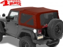 Supertop NX Red Twill Jeep Wrangler JK year 07-18 2-doors