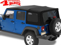 Supertop NX Black Twill Jeep Wrangler JK year 07-18 4-doors
