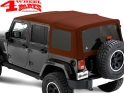 Supertop NX Red Twill Jeep Wrangler JK year 07-18 4-doors