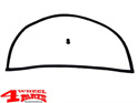 Hardtop Liftgate Inner Glass Seal Jeep CJ year 77-86