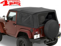 Replacement Soft Top Bestop Black Sailcloth Wrangler JK year 07-09 2-doors
