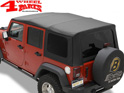 Replacement Soft Top Bestop Black Sailcloth Wrangler JK year 07-09 4-doors