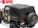 Replacement Soft Top Bestop Black Sailcloth Wrangler JK year 10-18 2-doors