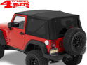 Replacement Soft Top Bestop Black Twill Wrangler JK year 07-09 2-doors