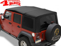 Replacement Soft Top Bestop Black Twill Wrangler JK year 07-09 4-doors