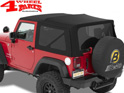 Replacement Soft Top Bestop Black Twill Wrangler JK year 10-18 2-doors