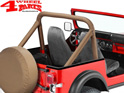 Roll Bar Sport Cover Tan Denim Bestop Jeep CJ year 80-86