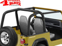 Roll Bar Sport Cover Black Denim Bestop Wrangler YJ year 92-95