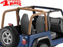 Roll Bar Sport Cover Spice Denim Bestop Wrangler TJ year 97-02
