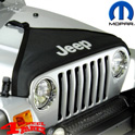 Hood Bra Cover Black with Jeep Logo Wrangler TJ year 97-06