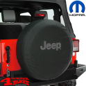 Tire Cover Mopar Jeep Logo Gray CJ + Wrangler YJ TJ JK year 76-18