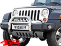 Grille Overlay Stainless Steel polished Jeep Wrangler JK year 07-18