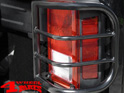 Tail Light Guards Pair Black 20mm Wrangler JK year 07-18