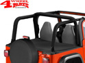 Duster Deck Cover Bestop Black Diamond Softtop TJ 03-06 Soft Top
