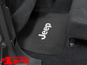 Floor Mat Rear Black Elite Series with Logo for Jeep Models