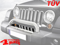 Front Bumper Cover Stainless Steel Wrangler JK year 07-18