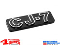 "Jeep CJ7 Emblem self Adhesive ""CJ-7"" Jeep CJ year 76-86"