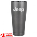 "Coffee Mug Grip Cup Textured Charcoal with ""Jeep"" Logo 590ml"