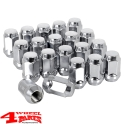 "Wheel Lug Nut Set 20 pce. Chrome for Steel or Alu Wheels 1/2"" Jeep"