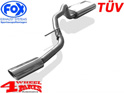 Stainless Steel Muffler Single Pipe TÜV Cherokee KJ year 01-05
