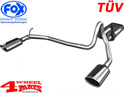 Stainless Steel Muffler Double Pipe TÜV Cherokee KJ year 01-05