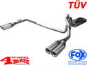 Stainless Steel Muffler Double Tailpipe Grand Cherokee 99-04 3,1 4,0 4,7 L