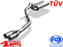 Stainless Steel Muffler Single Pipe Grand Cherokee year 01-04 2,7 +4,7 L