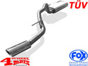 Stainless Steel Muffler Single Pipe Grand Cherokee year 01-04 2,7 L CRD