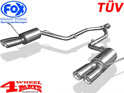 Stainless Steel Muffler TÜV Grand Cherokee WK2 year 11-13 3,6 L