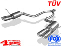 Stainless Steel Muffler TÜV Grand Cherokee WK2 year 11-14 5,7 L