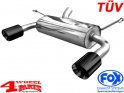 Sport Stainless Steel Muffler Round Black with TÜV Wrangler JK year 07-18 2,8 L CRD + 6 Cyl.