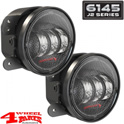 LED Fog Lamp Pair Carbon 6145 J2 Series Wrangler JK year 07-18