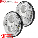 LED Headlight Pair Chrome from LTPRTZ Wrangler JK year 07-18