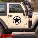 Decal Pair Black Star Wrangler JK year 07-18