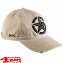 "Base Cap mit aufgesticktem Jeep-Stern in ""Sand Dark Grey"""