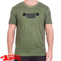 "T-Shirt Vintage-Optik ""Grille"" J8S in Pine Green Black"