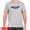 "T-Shirt Vintage-Effect ""Grille"" J8S in LightGrey Dark Grey"