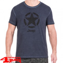 "T-Shirt Vintage-Effect ""Star"" J8S Light in Blue Night Black"