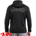 Stretch Jacket with Hood and Jeep print in Black Wet Weather
