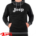 Ringspun Hoodie Hooded Sweatshirt in Black Grey Melange