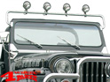 Light Bar Windshield Mounted Stainless Steel CJ + Wrangler YJ year 76-95