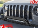 Front Protection Bar with TÜV Black Wrangler JL year 18-20