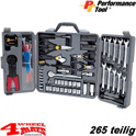 Tool Box 265 pieces - Electro Set - with inch and metrical Tools